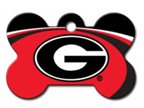 Georgia Bulldogs Engraved Pet ID Tag