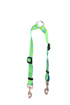 Green and Blue Polka Dot Coupler Dog Leash