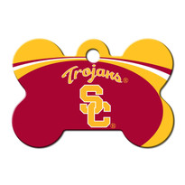 USC Trojans Engraved Pet ID Tag