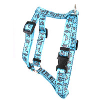 "Tribal Seas Blue Roman Style ""H"" Dog Harness"
