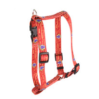 """Red Wine Roman Style """"H"""" Dog Harness"""