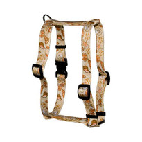 """Paw Prints in the Sand Roman Style """"H"""" Dog Harness"""