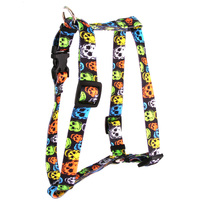 "Neon Skulls Roman Style ""H"" Dog Harness"