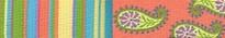 "Melon Stripes Roman Style ""H"" Dog Harness"