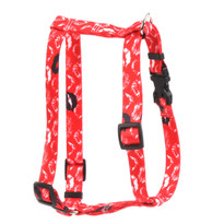 """Kisses Red Roman Style """"H"""" Dog Harness"""