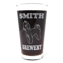 Personalized Pint Glass Beer Mug - Maltese