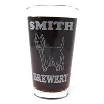Personalized Pint Glass Beer Mug - Westie