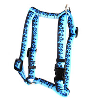 """Blue Flames Roman Style """"H"""" Dog Harness"""