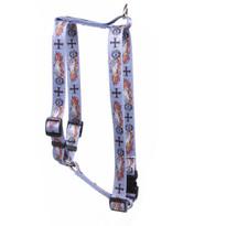 """Biker Tattoo Roman Style """"H"""" Dog Harness"""