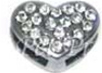 Heart Charm - Clear (10mm)