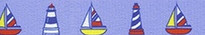 Sailboats and Lighthouses EZ-Grip Dog Leash