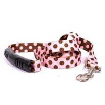 Pink and Brown Polka Dot EZ-Grip Dog Leash