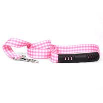 Gingham Pink EZ-Grip Dog Leash