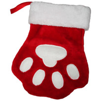 Red Paw Print Stocking ** CLEARANCE **
