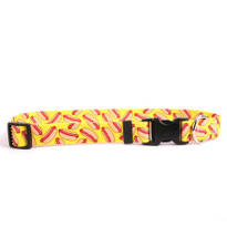 Hot Dogs Dog Collar with Tag-A-Long