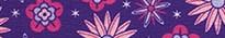 Purple Flowers Waist Walker