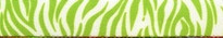 Zebra Green Step-In Dog Harness