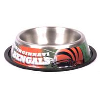 Cincinnati Bengals Stainless Steel NFL Dog Bowl