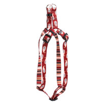 Burgundy Paisley Step-In Dog Harness