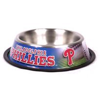 Philadelphia Phillies Stainless Steel MLB Dog Bowl
