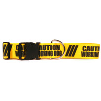 2 Inch - Caution Working Dog Dog Collar