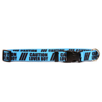 1 Inch - Caution Lover Boy Dog Collar