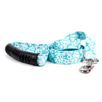 Teal Lace Flowers EZ-Grip Dog Leash