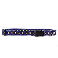 Purple Argyle Halloween Dog Collar with Tag-A-Long