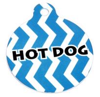 Blueberry Chevron Stripe HD Pet ID Tag