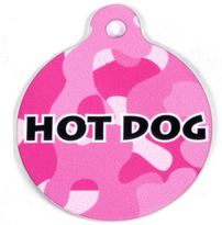 Pink Camo HD Pet ID Tag