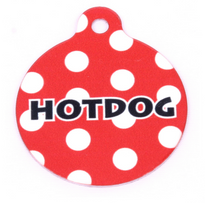 Red Polka Dot HD Pet ID Tag