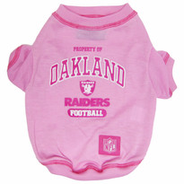 Oakland Raiders NFL Football PINK Pet T-Shirt