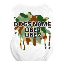 Personalized Green Camo Pet T-Shirt