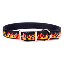 Red Flames Uptown Dog Collar