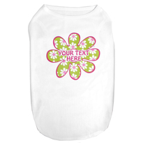 Personalized Green Daisy Flower Pet T-Shirt