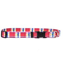 Madras Burgundy Break Away Cat Collar
