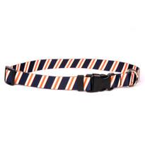 Team Spirit Navy, Orange and White Break Away Cat Collar