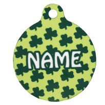 Petite Shamrocks HD Pet ID Tag