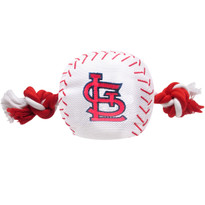 St. Louis Cardinals Nylon Rope Baseball Squeaker  Dog Toy