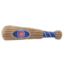 Chicago Cubs Baseball Bat Squeaker Dog Toy