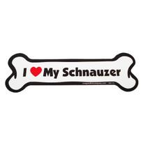 I Love My Schnauzer Bone Magnet