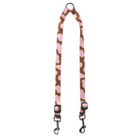 Pink Cow Coupler Dog Leash