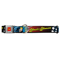 Wonder Woman Buckle-Down Seat Belt Buckle Dog Collar