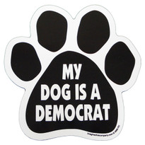 My Dog is a Democrat Paw Magnet