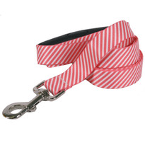 Southern Dawg Seersucker Red Premium Dog Leash