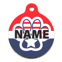 Patriotic Paws HD Pet ID Tag