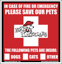 2 PACK of Rescue Our Pets Emergency Window Display