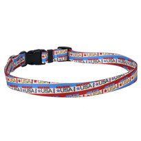 Vintage Made in the USA Dog Collar with Tag-A-Long