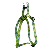 Argyle Green Step-In Dog Harness