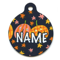 Pumpkin Party HD Pet ID Tag